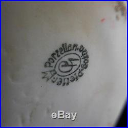 Sculpture porcelaine oie PORZELLAN GOTHA PFEFFER fait main Allemagne Déco N3159