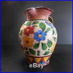 Sculpture ready-made pichet céramique terre cuite art nouveau handmade Italie N3