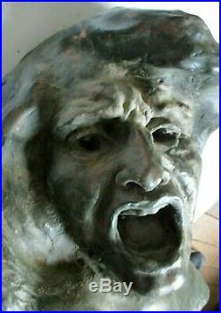 Sculpture statue A. FINOT 1909 Expressionnisme Cabinet de curiosité Era Bourdelle