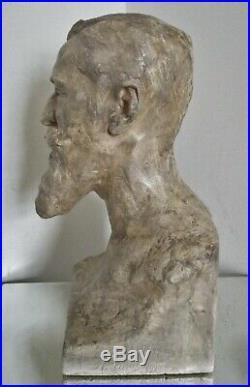Sculpture statue Art Nouveau Alfred Finot à l'ami E. Corbin 1902 Magasins réunis