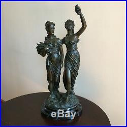 Sculpture style art nouveau en résine
