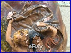 Sculpture terre cuite G. CRINQUE vase romantique art nouveau jugenstil pottery