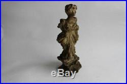Sculpture terre cuite femme Art nouveau signée (34825)