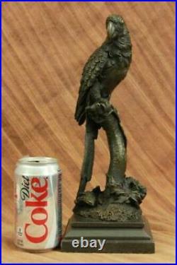 Signe Armor Bronze Perroquet Oiseau Art Statue Sculpture Serre-Livre État Solde