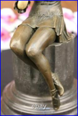 Signé Preiss Roaring 20, Jazz Modèle Bronze Faux OS Sculpture Art Déco Figurine