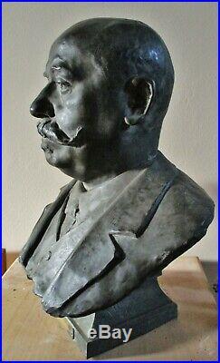 Statue Buste bronze G. Littinger Brasserie Lorraine 1896 par Finot Ecole de Nancy