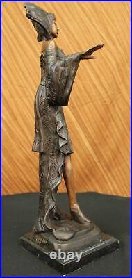 Statue Sculpture Art Déco Style Art Nouveau Style Bronze Fonte Cadeau