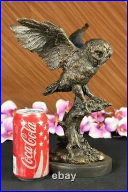 Statue Sculpture Chouette Oiseau Faune Art Déco Style Nouveau Figurine