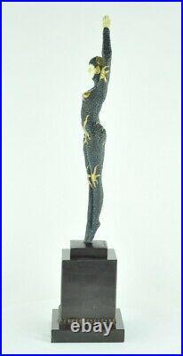 Statue Sculpture Danseuse Pin-up Sexy Style Art Deco Style Art Nouveau Bronze ma