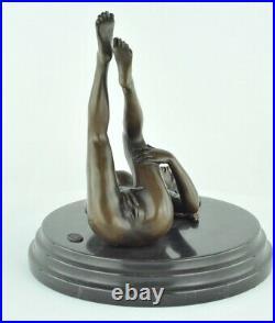 Statue Sculpture Danseuse Sexy Pin-up Style Art Deco Style Art Nouveau Bronze ma