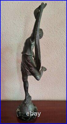 Statue Sculpture Danseuse en Régule signé P. Sega