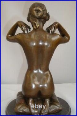 Statue Sculpture Demoiselle Collier Nue Sexy Style Art Deco Style Art Nouveau Br