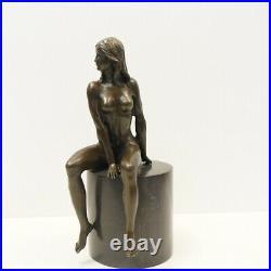 Statue Sculpture Nymphe Sexy Style Art Deco Style Art Nouveau Bronze massif Sign