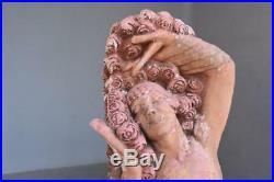 Statue de jeune femme Art Nouveau par Bernard Callie