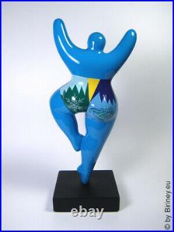 Statue sculpture résine Nana femme Hiver 25cm statuette de Biriney neuf