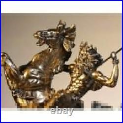 Statue statuette Antique mythologie grec dieux de la mer poséidon hauteur 29 cm
