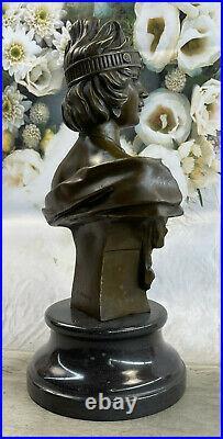 Style Art Nouveau Deco Femelle Buste Par Villanis Bronze Sculpture Collector