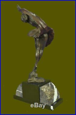 Style Art Nouveau Delor Nu Femme Soldé Statue Bronze Figurine Sculpture