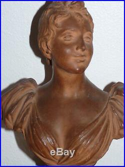 Superbe ancienne sculpture Art Nouveau de Dominique Van den Bossche (1854-1906)