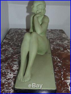 Superbe ancienne sculpture Art Nouveau de Salvatore Melani (1902-1934)