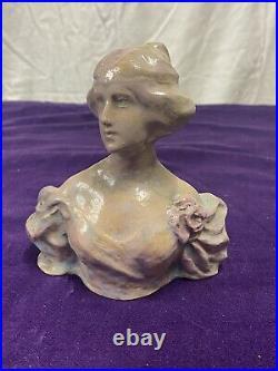 Terre Cuite Buste Femme Signé Leyritz Éditeur Deyeux Et Champeroux Art Nouveau