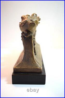 Terre Cuite aux Oiseaux Art Nouveau Art Deco signé M Bertin XX ème 20th