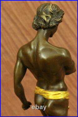 The Lion Slayer Superbe Français Bronze Sculpture Statue Art Nouveau Potet uvre