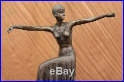 Turc Danseuse par Chiparus Art Nouveau Marbre Base Sculpture Déco Figurine