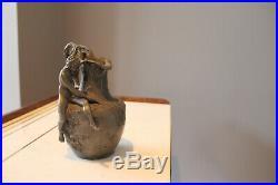VIBERT Alexandre & Siot Decauville Vase au nu Art nouveau 1900