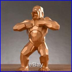 Wild Gold Kong gorille singe Sculpture géométrique Resin 16 Big Art Orlinski