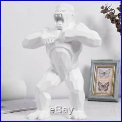 Wild White Kong gorille singe Sculpture géométrique Resin 16 Big Art Orlinski